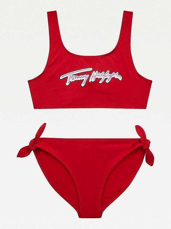 Bikini Niña Tommy Hilfiger Firma Glitter   -   - PEPI GUERRA