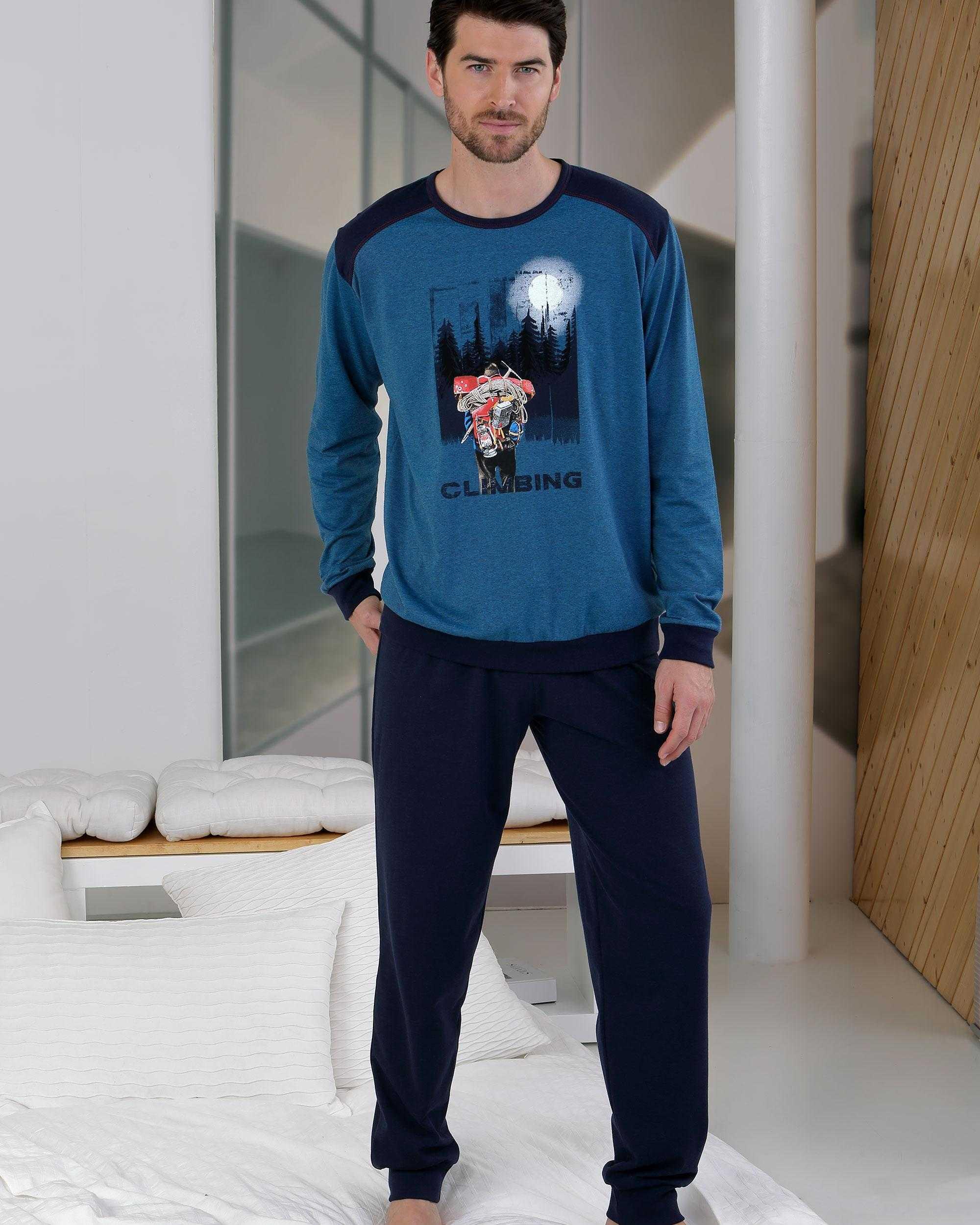 Pijama Caballero Climbing Massana TALLAS: m, l, xl; COLOR: azul  - HOMBRE  - PEPI GUERRA