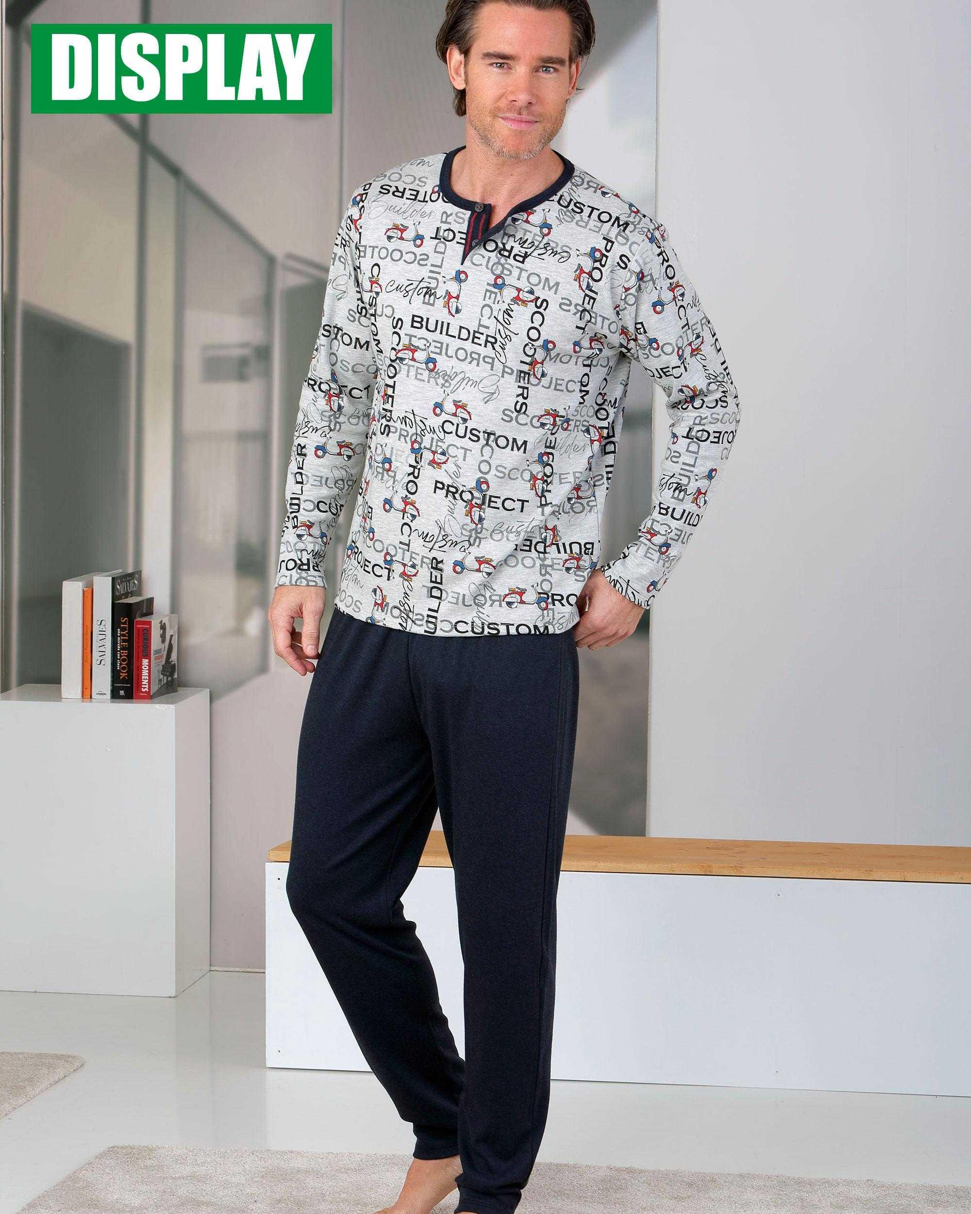 Pijama Caballero Scooters Massana COLOR: gris; TALLAS: m, l, xl  - HOMBRE  - PEPI GUERRA