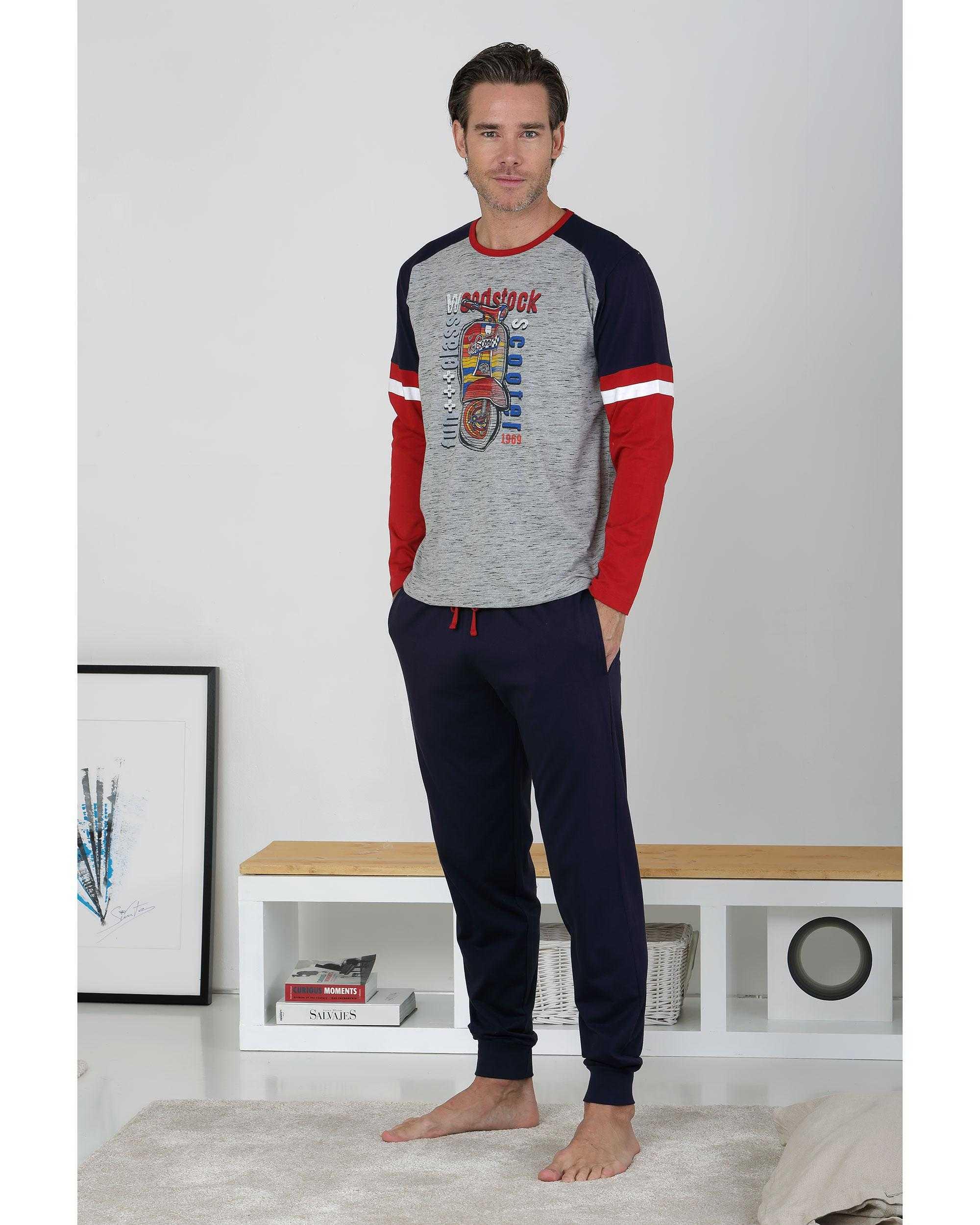 Pijama Caballero Vespa Massana COLOR: gris; TALLAS: s, m, l, xl  - HOMBRE  - PEPI GUERRA
