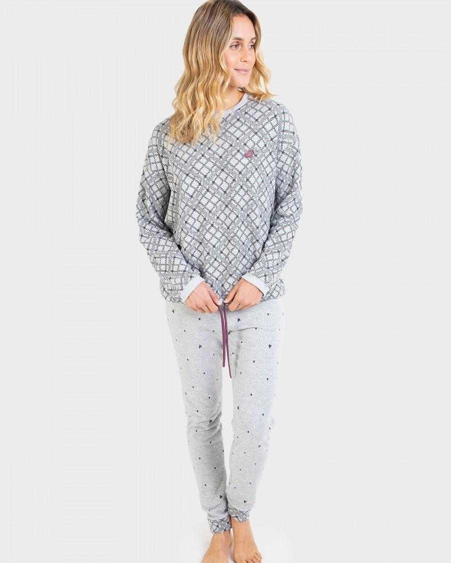 Pijama Señora Massana Rombos   -   - PEPI GUERRA