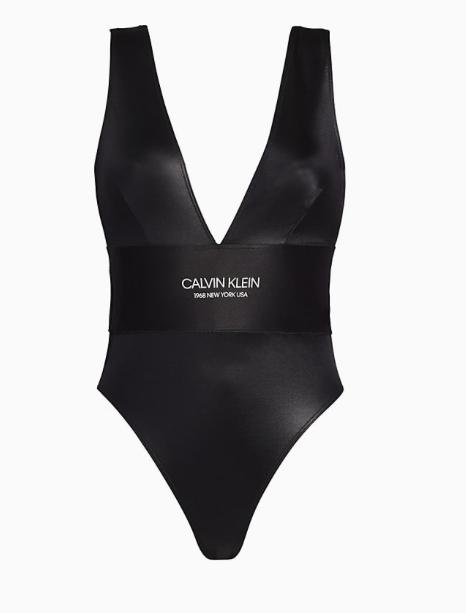 Bañador Calvin Klein escotado TALLAS: s, m, l; COLOR: negro, marrón  - BAÑO  - PEPI GUERRA