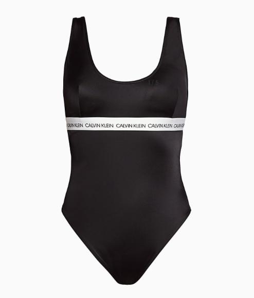 Bañador Calvin Klein escote logo TALLAS: xs, s, m; COLOR: negro  - BAÑO  - PEPI GUERRA
