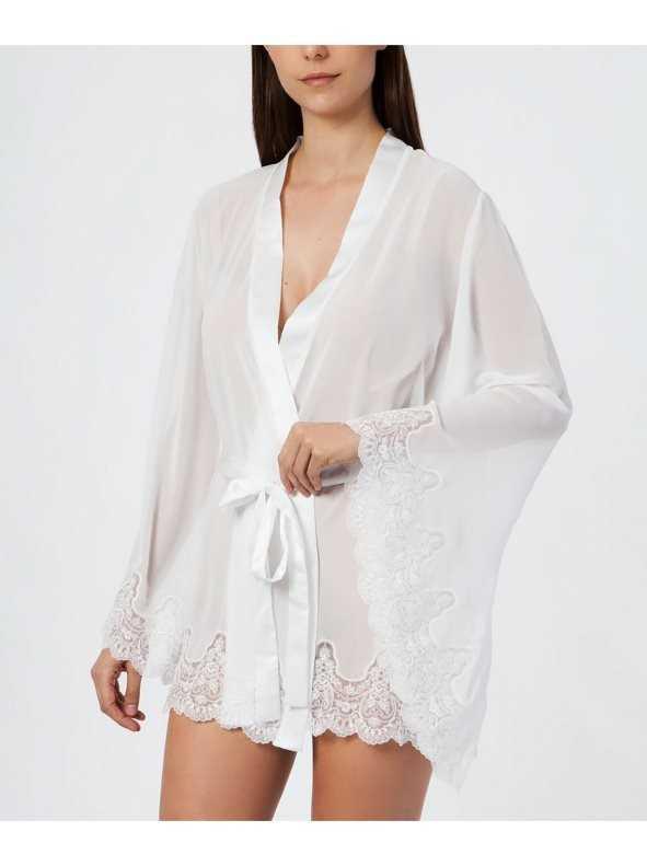Kimono Novia Ivette TALLAS: s, m, l; COLOR: marfil  - NOVIAS  - PEPI GUERRA