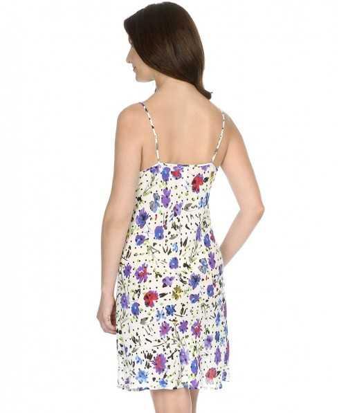 Nightdress woman Lohe flowers