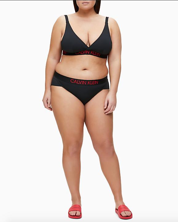 Braguita brasileña bikini Calvin Klein TALLAS: m, l, xl; COLOR: negro  - BAÑO  - PEPI GUERRA
