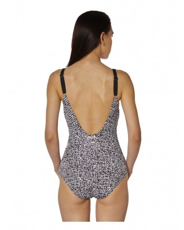 Swimsuit padded red point ines