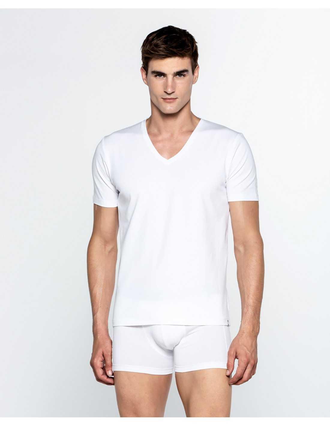 T-shirt Punto Blanco V-neck orgánic cotton Ecologix
