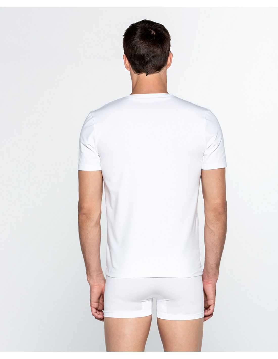 Camiseta Punto Blanco cuello pico Ecologix COLOR: gris, blanco, negro; TALLAS: s, m, l, xl Composición: algodón -