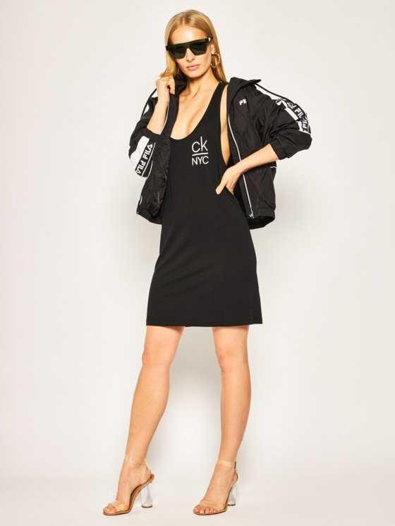 Vestido playa Calvin Klein logo TALLAS: s, m; COLOR: negro Composición: algodón - BAÑO  - PEPI GUERRA