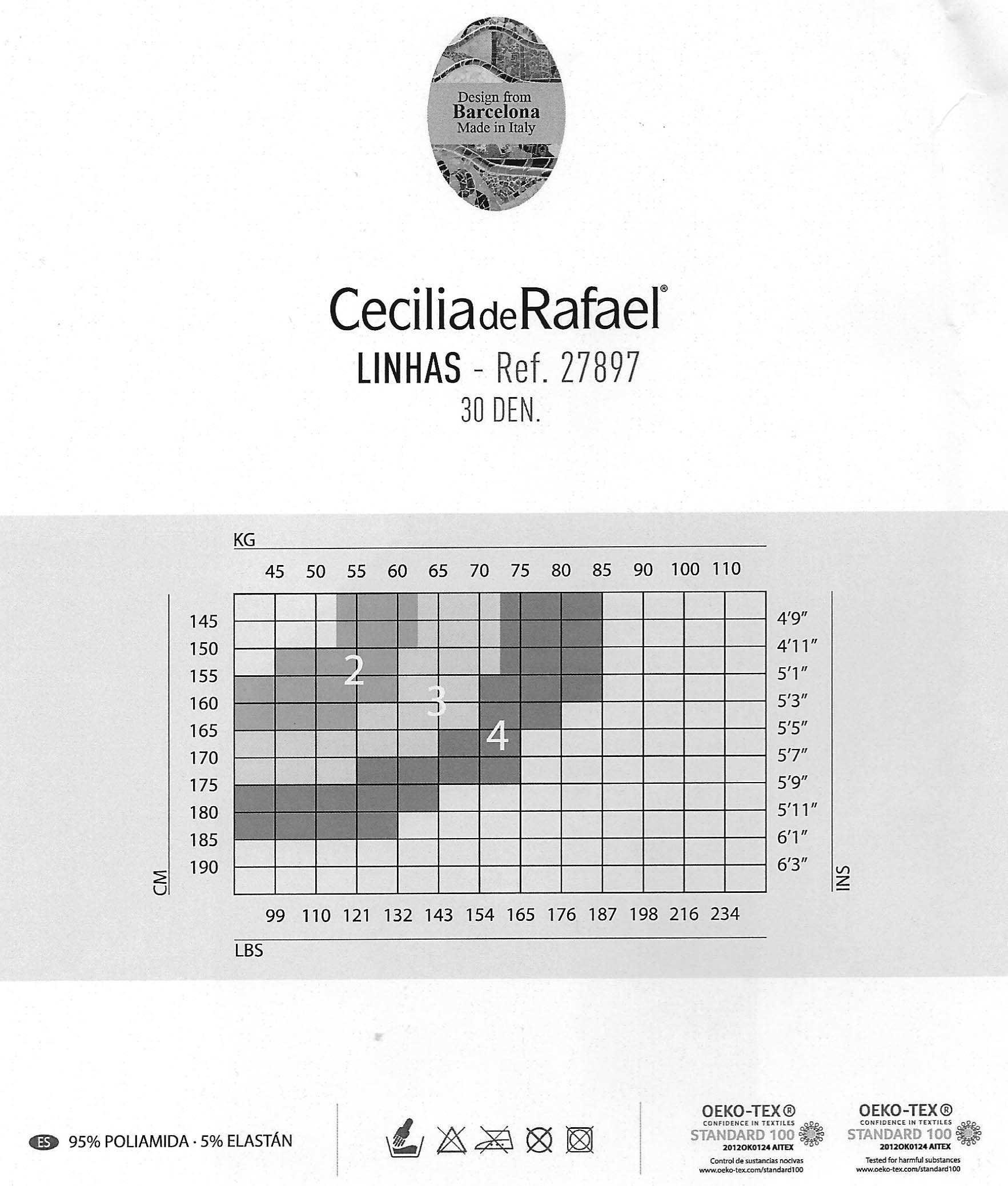 Opaque glossy thick backseamed tights Cecilia de Rafael