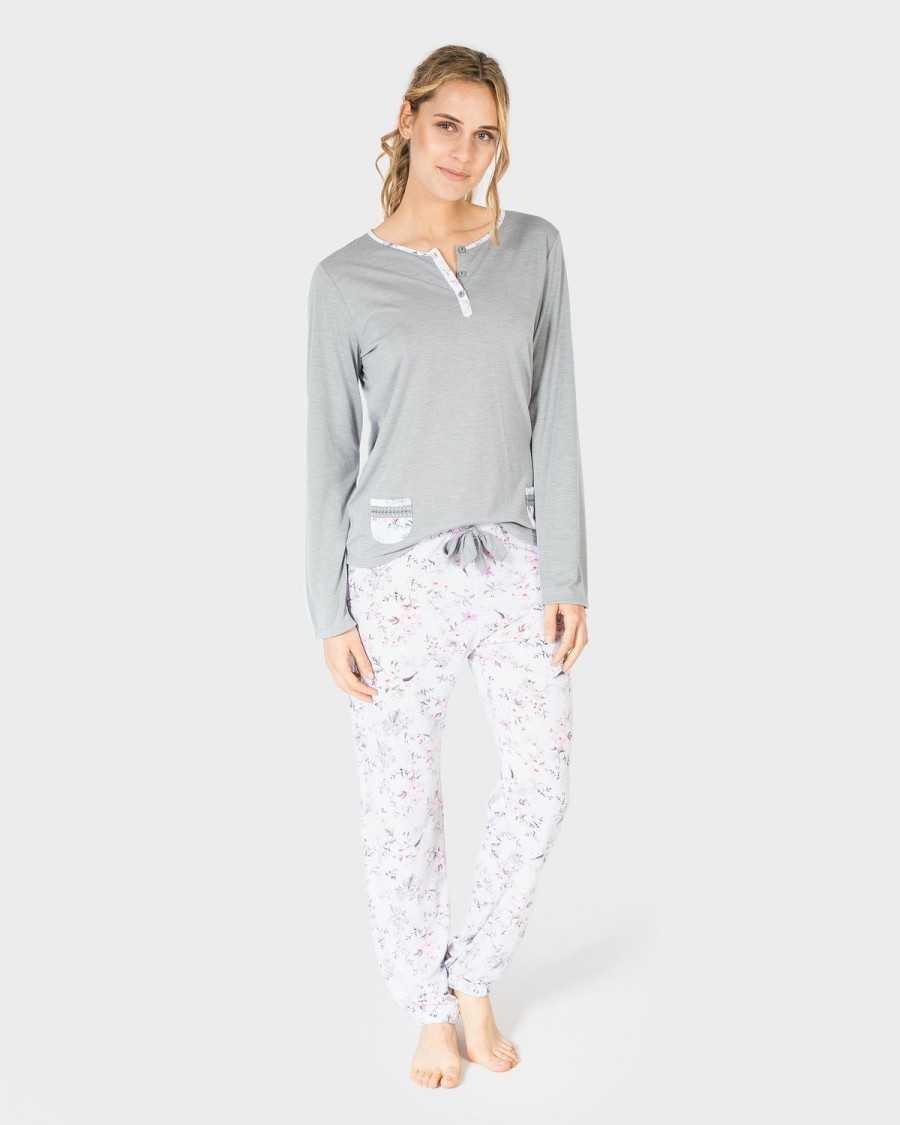 Pijama Señora Massana 'Grey Flower'