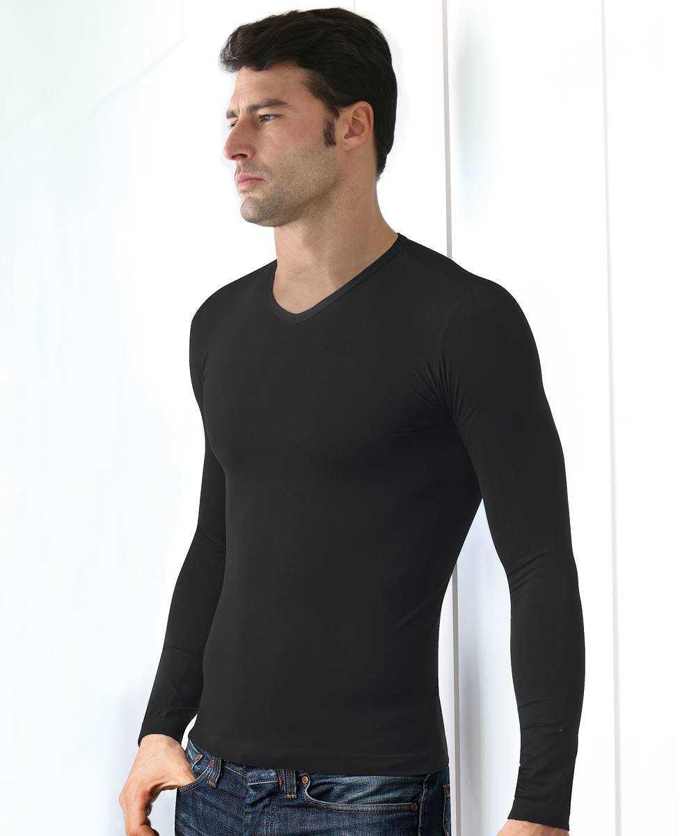 Camiseta Caballero Intimidea 'Scollo V' M/L