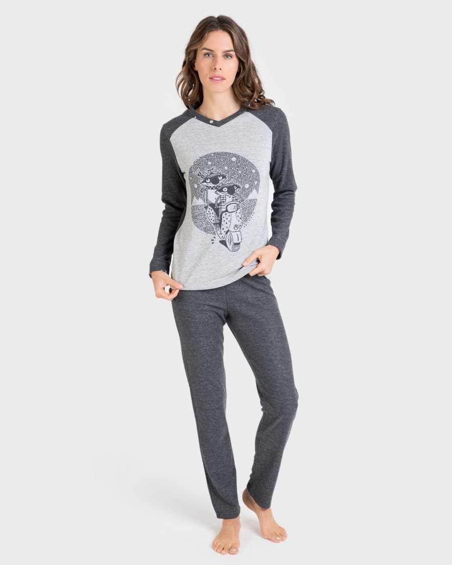 Pijama Señora 'Grey Raccoon' Massana