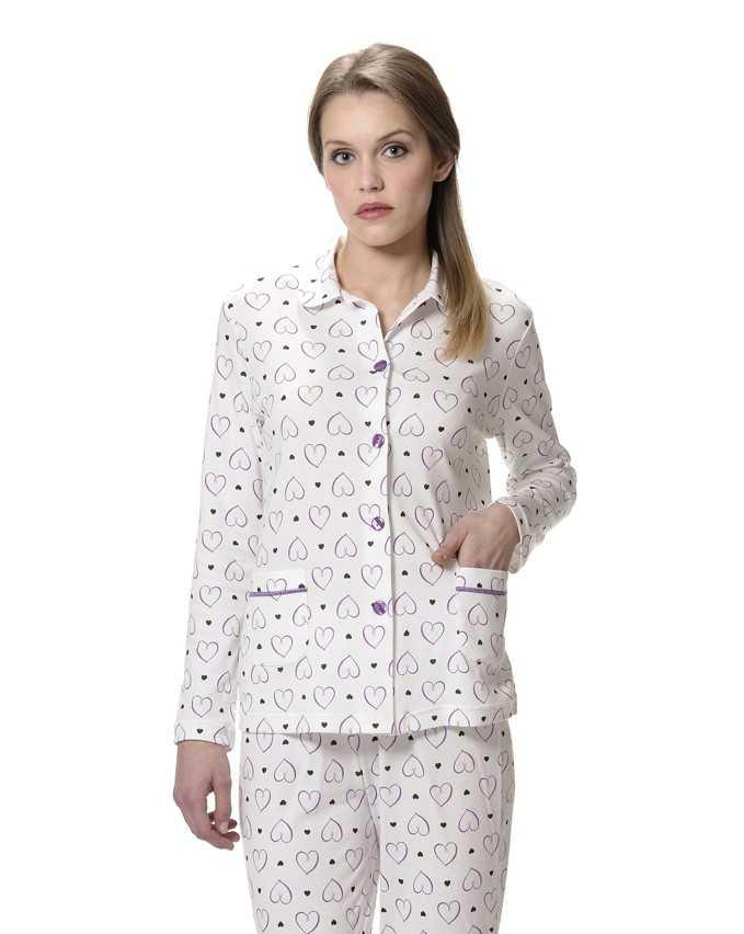 Pijama Señora Lohe Dibujo Corazones