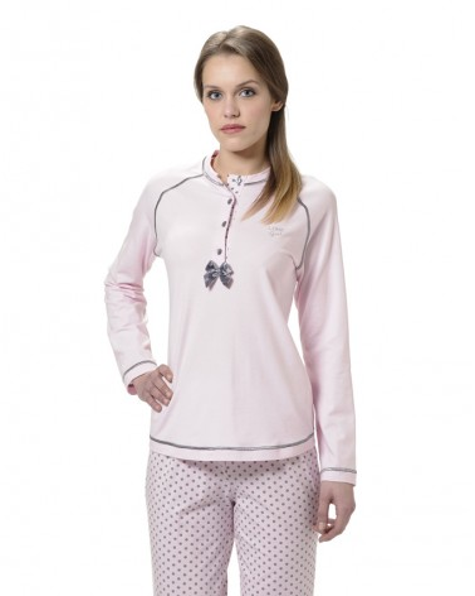 Pijama Señora Lohe Pink Polka Dos