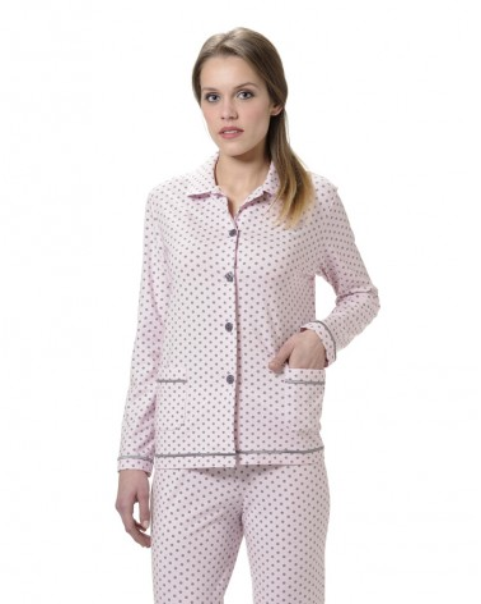 Pijama Señora Lohe Pink Polka Dots