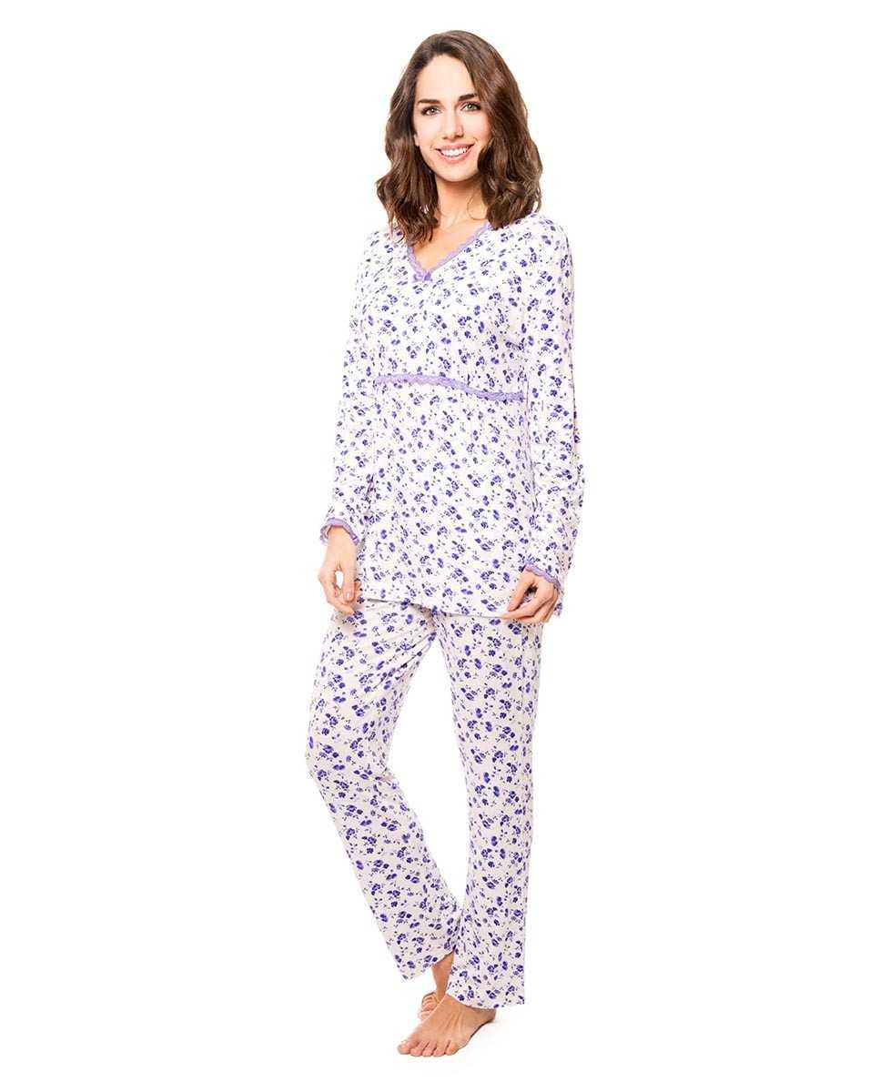 Pijama Señora Lohe Flores Violetas