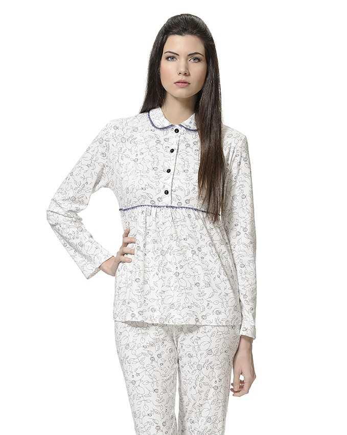 Pijama Señora Lohe Detalles Organza   - Lencería noche  - PEPI GUERRA