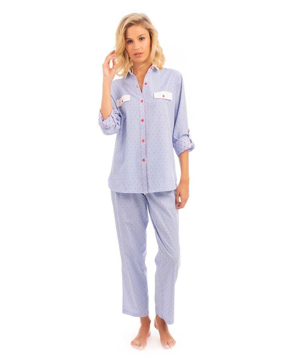 Pijama Señora Lohe Topitos   -   - PEPI GUERRA