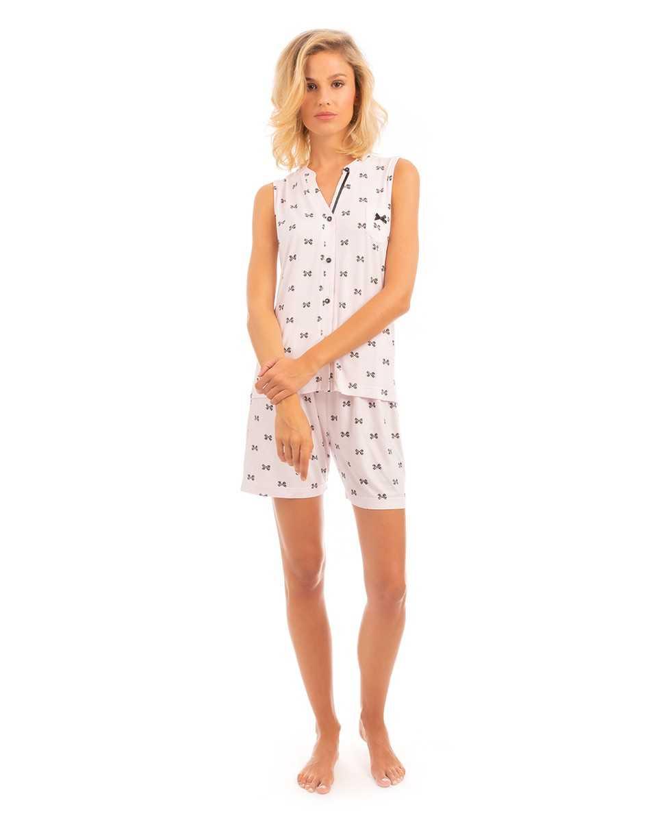 Pijama Señora Lohe Lazos TALLAS: m, l, xl; COLOR: rosa  - Lencería noche  - PEPI GUERRA