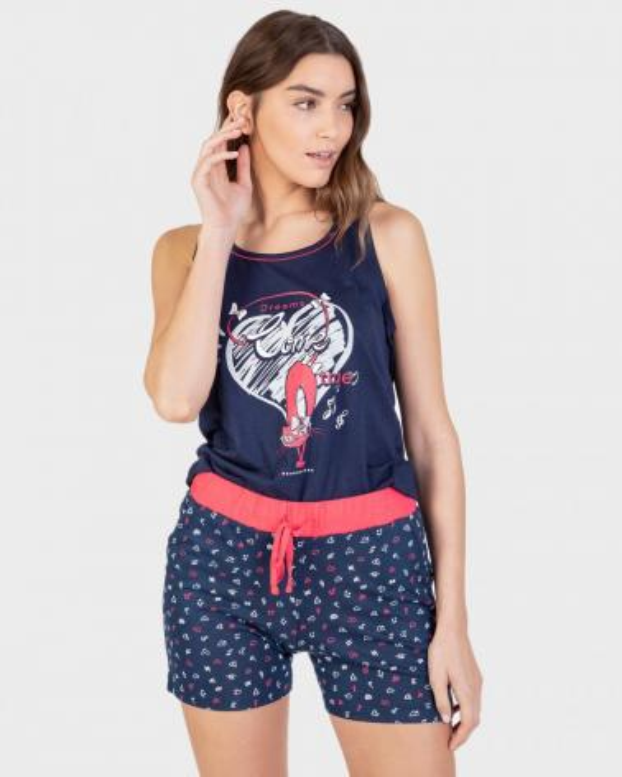 Pijama Mujer Tirante Ancho Massana  Composición: algodón, modal - Lencería noche  - PEPI GUERRA