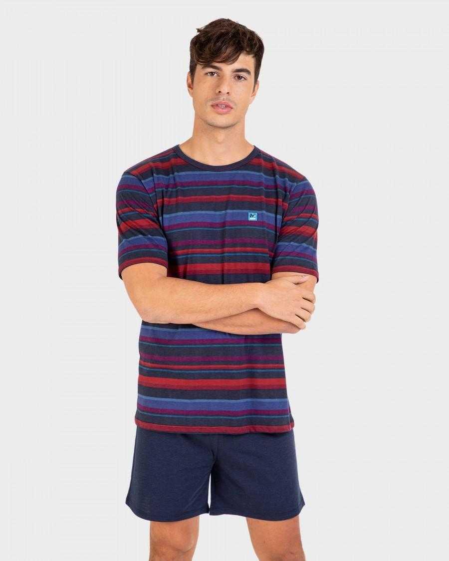Pijama Hombre Manga Corta Massana  Composición: poliéster, algodón - HOMBRE  - PEPI GUERRA