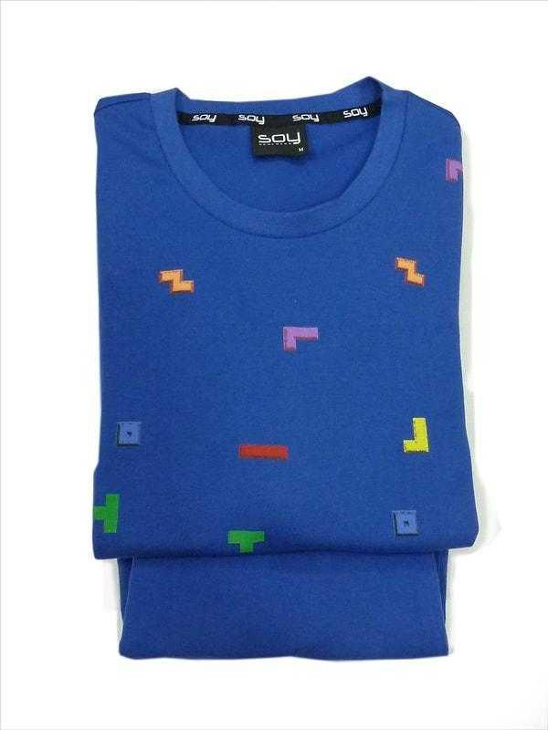 Pijama Caballero Manga Larga Tetris Soy  Composición: algodón - HOMBRE  - PEPI GUERRA
